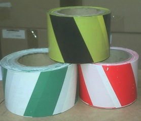 red yellow green barrier tapes